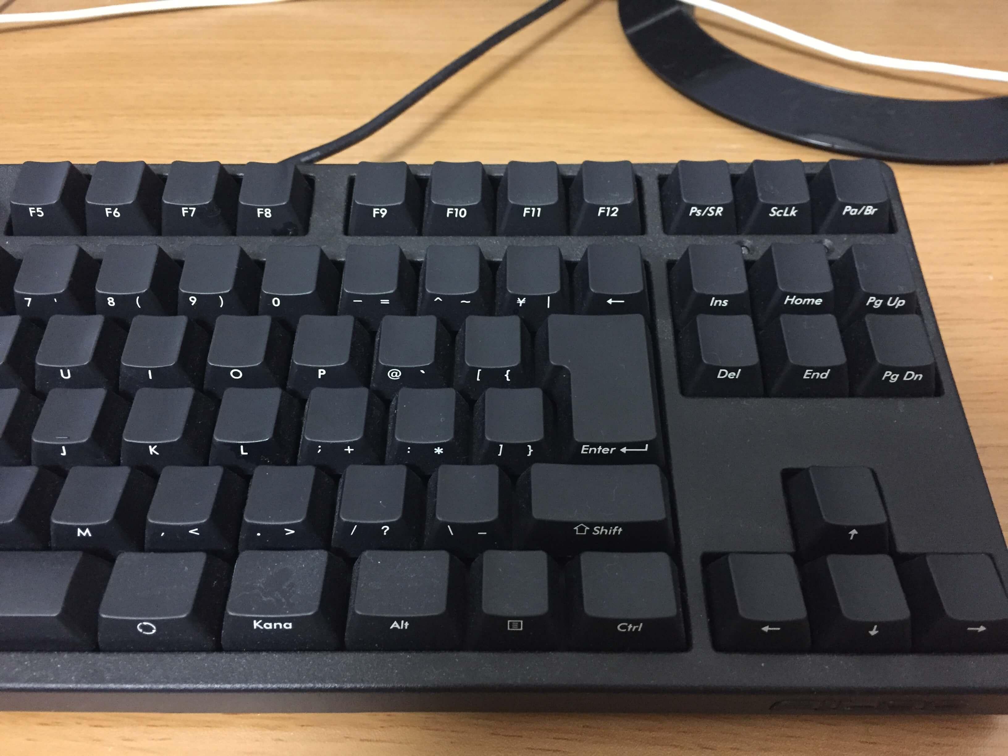 メカニカルキーボードの真髄、FILCO Majestouch Black Tenkeyless(テンキーレス・茶軸