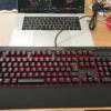 【レビュー】防滴防塵の赤軸ゲーミングキーボード「Corsair K68 Cherry MX Red」の打